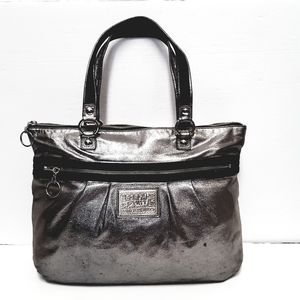 Coach metallic silver poppy Bag